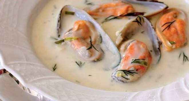 chowder de mexilhão